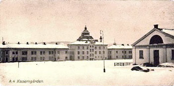 Barrack square, Norrland Artillery Regiment, A4