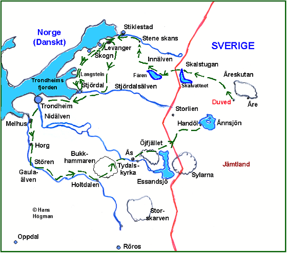 Kartor Sveriges Gränsområden Eng UTF - Jamtland sweden map